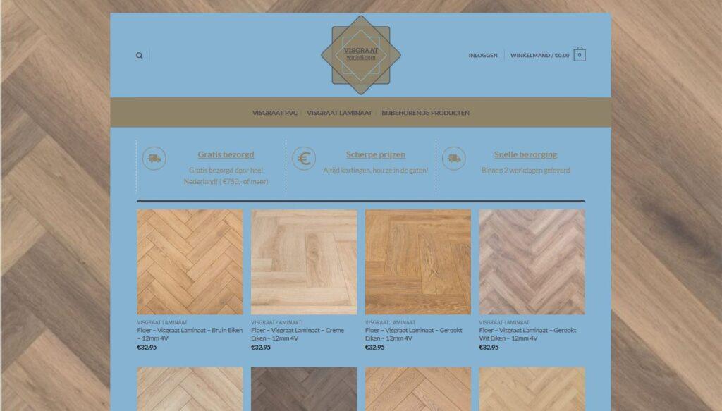 Visgraatwinkel.com | Visgraat Click PVC & Visgraat Laminaat
